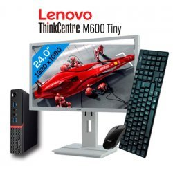 "LENOVO THINKCENTRE M600 TINY INTEL CELERON J3060 8GB DDR3 256GB SSD CON MONITOR 24"" FULL HD ACER B246HL EXLEASING"